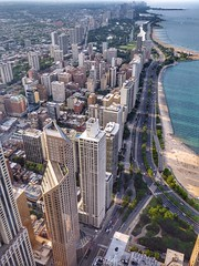 Chicago from the Water Tower (Nick Fewings 4.5 Million Views) Tags: architecture building skyscrapers nickfewings michigan lake cars road unitedstates usa america illinois watertower chicago flickr