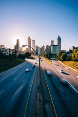 jackson street bridge (almostsummersky) Tags: autumn georgia bridge overlook atlanta buildings lanes fall traffic streetlights sun urban road highway skyscrapers afternoon cars city skyline jacksonstreetbridge jacksonstreet unitedstates us