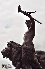 Strength. (TatiAppleHead) Tags: london england buckingham palace victoria memorial regno unito summer love happiness happy handsome photo passion picture photography peace portrait statues statue awesome amore art lovely light like live black sun shoot sky sweet wonderful reflex details travel journey city nikon d5100 nikond5100 street