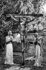 Crucified, St. Nicholas Church, Arundel (Nick Fewings 4.5 Million Views) Tags: photo fewings nick monochrome white black cross statue december christian religious religion arundel church mary jesus crucified