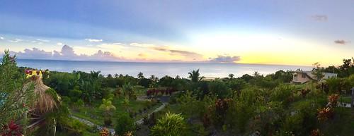 Tet Rouge sunset. St. Lucia.