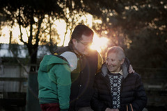 3 generaciones (Seba Correa Barra) Tags: chile sunset sun sunlight grandmother brother father generaciones