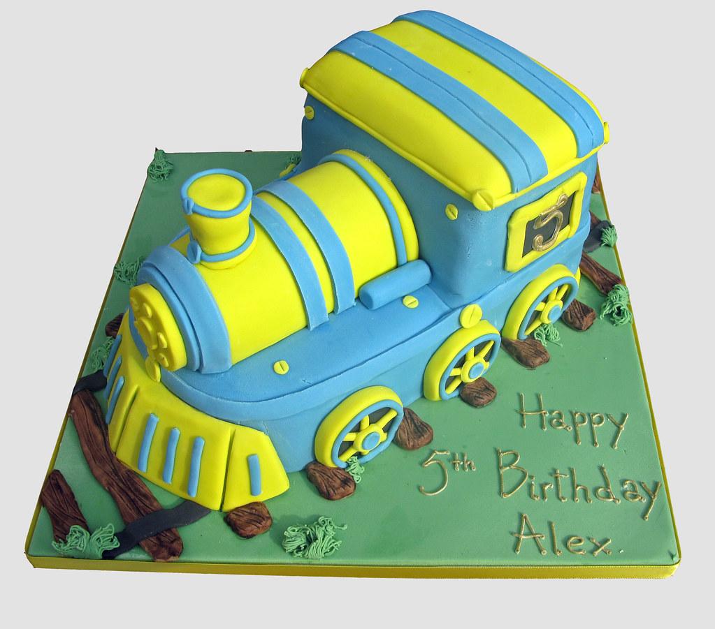 Rosie the train birthday cake
