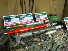 Ammo for the 2A28 recoilles gun, main weapon of the BMP-1 IFV (The Adventurous Eye) Tags: ammo grenade ammunition výstava vojenské techniky 2a28 pg15v 672013 houdkovice og15v