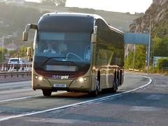 HSK 649 (Cammies Transport Photography) Tags: bus gold volvo coach edinburgh dundee hamilton parks amp via elite perth a90 citylink inverkeithing plaxton of g92 broxden ferrytoll hsk649