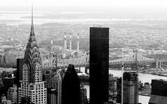 Chrysler Building and Bridge (Jay Costello) Tags: nyc newyorkcity blackandwhite bw ny newyork artdeco chryslerbuilding bigapple