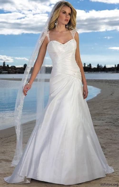Vestido de noiva romantico