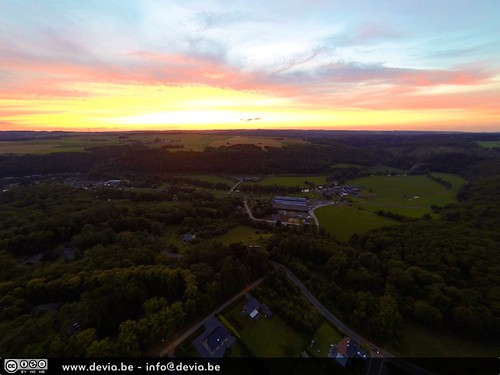 Aerial Sunset near Bomal