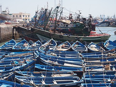 Blue Boats-Essaouira-Morocco (mikemellinger) Tags: ocean africa old blue nature beauty landscape boats coast harbor wooden seaside fishing scenery north traditions atlantic morocco local popular essaouira