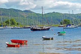 Boats at Loch Melfort