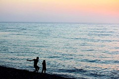 Sunset Skimmer (laufar1) Tags: sunset love beach silhouette canon tenerife skimming