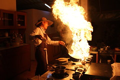 Thai cooking class (kingpatrick7) Tags: hot cooking kitchen canon thailand fire flames chef thai padthai t3i