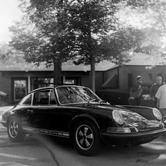 Porsche 911 (with some flare) - Coffee and Classics September 2013 (Fogel's Focus) Tags: wheels 150 porsche neopan400 rodinal sunbeam min classiccars 20c 846 yashicamat agfarodinal lumaxar fujineopan 400200 film:iso=200 film:brand=fuji developer:brand=agfa developer:name=agfarodinal film:name=fujineopan400 fuelfed coffeeandclassics filmdev:recipe=8961