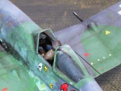 "1:72 Heinkel He 100 G-2; aircraft ""10+ Red"" of 2. Gruppe, I./JG 4, mount of Unteroffizier (""Uffz."") Helmut Behringer; Mizil, Romania; September 1944 (Whif/Special Hobby kit conversion) (dizzyfugu) Tags: aircraft 4 heinkel fantasy romania 100 1994 he luft bf 109 b24 46 jg interceptor whatif modellbau luftwaffe rlm whif jagdgeschwader dizzyfugu franclab"