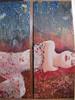 Belle dentelle (Leelooart) Tags: automne vintage la à femme peinture technique dentelle bois tableaux recyclé mixte navette dormeuse encaustique leelooart