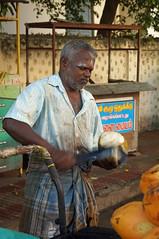 Coconut Vendor (TAZMPictures) Tags: street india streetphotography diwali chennai deepawali vendors