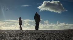 Blowing Away The Cobwebs (Nigel Jones LRPS) Tags: blue sky beach sunshine clouds wind walk air windy pebbles fresh enjoy breeze refreshing