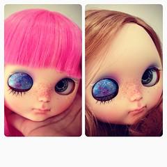 Need ur help can't decide which hair is suit her #custom #blythe #dolls #sugarluna #ooak #artdolls #blythedolls