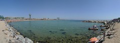 Playa de la Berceloneta - Barcelona (marc pt) Tags: barcelona beach spain nikon bcn playa barceloneta catalunya nikkor panorámica 2013 panasonicdmclx3