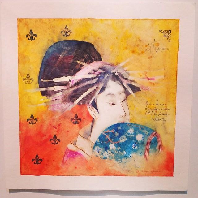 """""""Entre pinos y rocas, Ella"""" • """"El Diálogo, el Pastiche y la Memoria"""" #muestra individual de Ramiro Pareja Herrera #arte #arteenlima #art #artinlima #artist #artista #pintura #painting"""