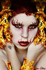 Queen Of The Flames (Julia Ellies) Tags: portrait selfportrait hot art me tattoo canon mouth eyes arte flames makeup lips queen io occhi redlips autoritratto regina ritratto fuoco fiamma ardente caldo fiamme trucco labbra shockofthenew