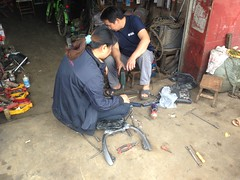 """Welding aluminium • <a style=""""font-size:0.8em;"""" href=""""http://www.flickr.com/photos/98061816@N08/11259369744/"""" target=""""_blank"""">View on Flickr</a>"""