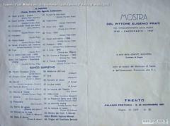 Eugenio Prati Mostra nel cinquantenario della morte Palazzo Pretorio 1957