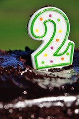 Two (J-Fish) Tags: california birthday two cake candle birthdaycake campbell johndmorganpark d300s 1685mmf3556gvr 1685mmvr