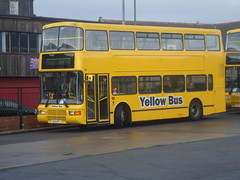 3832 S832 OFT GNE Yellow Bus Volvo Olympian Palatine 2 N.I.S at Consett Bus Station (North East Malarkey) Tags: nebuses gne gonortheast northern goaheadgroup goaheadnorthern buses transport publictransport transportation northeast tyneandwear flickr buspics buspictures vehicle outdoor nebbygone explore inexplore google googleimages
