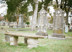 Sacred (mynamesdonny) Tags: mamiya film cemetery analog austin mediumformat texas kodak headstone gravestone portra inmemoriam 120mm 160 oakwoodcemetery portra160 sekor 645protl 80mmf19 richardphotolab believeinfilm donnytidmore tennieawalker lizziejoliphant