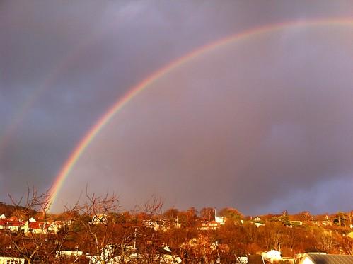 The perfect rainbow over Mölle/perfekt regnbåge över Mölle
