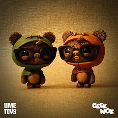 GeekWok release 2 ([rich]) Tags: cute glasses geek rich ewok resin ume collectable umetoys geekwok