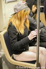 No Pants Subway Ride 27 countries around the World, Chicago, January 2014 (Natasha J Photography) Tags: chicago subway ride pants no january 2014