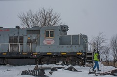 Plowing The Snow! (AmtrakFan21) Tags: old railroad illinois nathan rusty company crew metcalf eastern emd gp9 eirc k5l vision:outdoor=099 vision:sky=0541