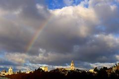 Mlaga. (Victoria.....a secas.) Tags: sky arcoiris clouds rainbow explore cielo nubes mlaga lamalagueta