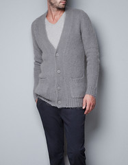 man15 (Passionnment mohair) Tags: man wool fashion sweater mohair mode cardigan zara gilet homme