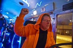 Captain Chaous (Light Brigading) Tags: iris light bus film wisconsin hall photo shoot song lisa joe capitol madison lane network songs brigade ssa lightbrigade moline dusan scottwalker brusky olb harminc solidaritysingalong occupyriverwest overpasslightbrigade