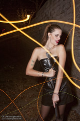 femdom 10 (CE Photogenetix) Tags: light woman lightpainting sexy beauty leather fashion wall female night fetish dark lights dom femme bricks domination vinyl sm fem brickwall paintingwithlight corset ponytail select femdom dominatrix canon40d christinaedwards