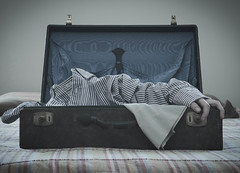 Unpacking (kecotting) Tags: strange monster shirt photoshop dark clothing scary nikon hand ghost creepy clothes spooky textures unusual suitcase unpack itsalive d5100