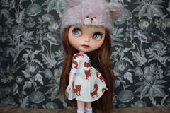 Deirdre (umami_baby) Tags: miniature doll vampire goth deirdre blythe freckles collectible etsy artdoll fashiondoll customizeddoll customblythe umamibaby