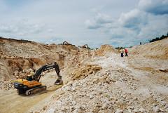 *** (Mercy^) Tags: road sky people man stone clouds train truck work volvo day hole sunny mining bulgaria photograph limestone safe build job blast quarry drilling excavator blasting miningengineer