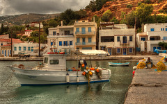 Waiting for a better weather (ido1) Tags: sea port grey harbor boat fisherman fishermen greece nets andros stormyday