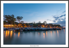 Jetty in the evening (Samsul Adam) Tags: sea sky night boats evening boat nikon singapore jetty tripod changi f4 d800 1635mm