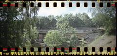 Railroad bridges, Berlin, Germany (ickeliv) Tags: camera railroad bridge berlin film analog germany deutschland lomo lomography rocket sbahn bahn sprocket