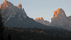 Sunset on Val Canali (Pala group - Dolomites) (ab.130722jvkz) Tags: italy trentino alps easternalps dolomites palagroup mountains sunset