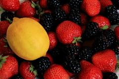 Berries 19oct16 II (time_anchor) Tags: berries strawberries blackberries lemon freshfruit freshberries beautifulnaturalcolors nature harvestbounty healthyfoods food desserts nutritiousfruit