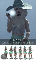 Glamrus . Raven AD (Glamrus) Tags: mirrored poses secondlife second life new slevents glamrus kawaii project raven explore witch