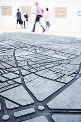 Exploring the city (marktmcn) Tags: boundaries borders no exhibition tate modern art gallery switch house extension beirut caoutchouc rubber floor map artist marwan rechmaoui visitors walking routes d610 living cities