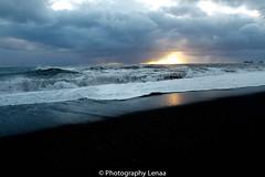 _MG_2927 (photography.lenaa) Tags: blacksandbeach beach stone black water sea ocean blue sun iceland