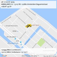AMBULANCE: A1 13107 Rit 122880 Amsterdam Daguerrestraat 1087AT 44 th~ (19:09) (IJburg112) Tags: ijburg112 p2000 amsterdam 112
